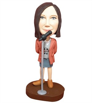 Stand Up Comedienne bobblehead Doll