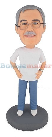 Hands On Waist Male bobblehead Doll