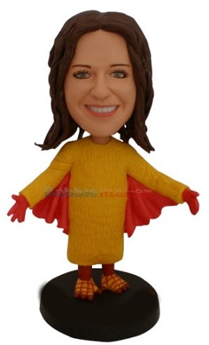 Female Bird Costume bobblehead Doll