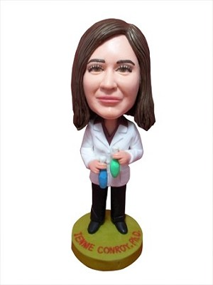 Lab Worker With Test Tubes bobblehead Doll