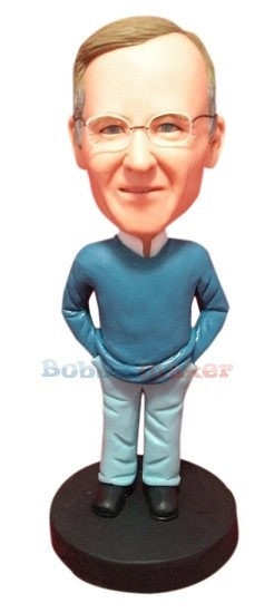 Sweater And Button Up Male bobblehead