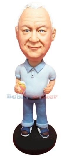 Custom Bobble Head | Beer Gut Man Bobblehead | Gift Ideas For Men