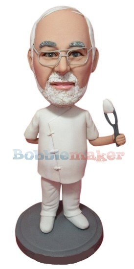 Male Dentist With Extracted Tooth bobblehead Doll