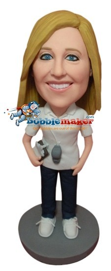Coach Female bobblehead Doll