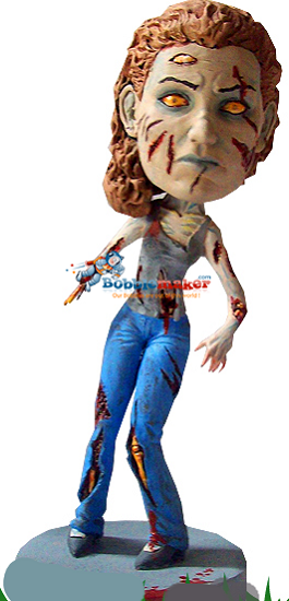 Custom Bobble Head | Zombie Female Bobblehead | Gift For Women